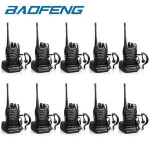 BAOFENG BF-888S TWO WAY RADIO WALKIE TALKIE UHF 400-470MHZ HANDHELD +EARBUDS LOT