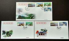 China 2000-14 Laoshan Mountain 崂山 4v Stamps each on FDC & B-FDC