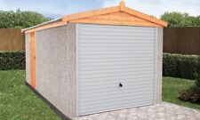 "CONCRETE SECTIONAL GARAGE GARAGES SHEDS  20ft 3"" X 10FT 6"" APEX  ROOF"