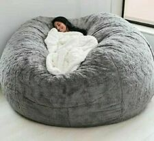 7ft Fur giant removable washable bean bag bed cover living room furniture