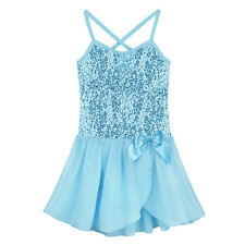 Kids Girls Leotard Ballet Tutu Dress Ballerina Fairy Swan Costumes Dancewear 7-8