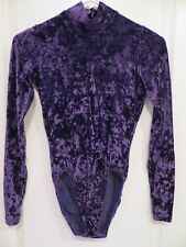 GK Elite Sportswear Velvet Ice Skating Dance Ballet Leotard Adult M New