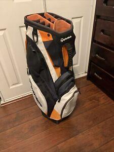 TaylorMade Cart Bag - Orange, White, Black - Divides 14 Ways