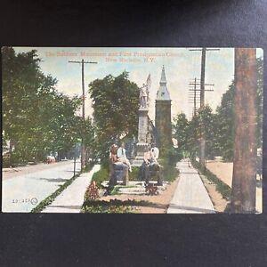 Vintage Pre 1916 1st Presbyterian Church New Rochelle Ny Postcard