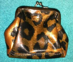 Miche small coin purse metallic brown & black patent leather
