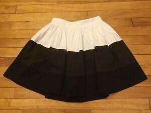 "Kate Spade ""Coreen Colorblock"" White/Brown Skirt, Size 0, NWT! $298"
