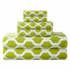 NWT $ 60 LATTICE CITRON Bath Towel 6 Piece Set Bathroom Towels Luxurious