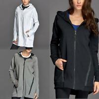 Nike Women's Tech Fleece Mesh Cocoon Jacket Black Grey White Playing Gym Warm