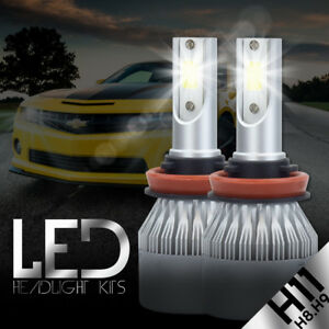 2017 All in One H11 388W 38800LM CREE LED Headlight Kit Light Bulbs 6000K White