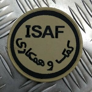 Genuine British ARMY ISAF International Security Assistance Force DS Badge IS5
