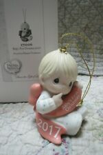 Precious Moments Ornament Baby's 1st First Christmas 2017 Boy