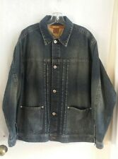 Sean John Denim Jean Jacket Vintage Wash Faded Blue Size Medium Mens P Diddy