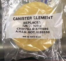 NOS Vapor Canister Element Filter GM 7026014 Chrysler 3577586 Amer. Mot. 8120330