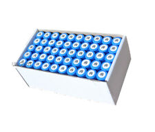 New 50 Piece LED Flashlight Torch Li-ion 18650 Rechargeable Battery