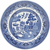 DINNER PLATE 26 CM CHURCHILL WILLOW BLUE TABLEWARE DINNERWARE PLATES SET OF 6