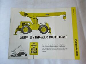 Galion 125 hydraulic mobile crane specification sheet brochure
