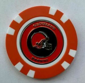 Team Golf Cleveland Browns  Poker Chip With Magnetic Ball Marker