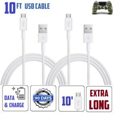 2-PACK 10ft Charging Cable USB Cord for PlayStation 4 PS4 Dualshock 4 Controller