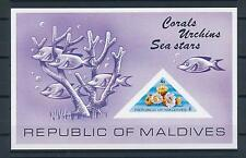 [36722] Maldives 1975 Marine life Corals Sea stars Souvenir Sheet MNH