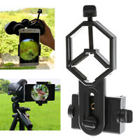Microscope Binocular Monocular Telescope Holder Clamp Clip Mount for Smart Phone
