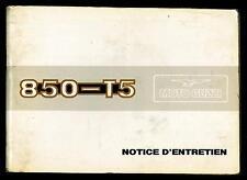 Notice d'Entretien MOTO GUZZI 850 T5 1983/84 en Français Manuel du Propriétaire