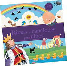 """LIBRO DE CUENTOS """"RIMAS Y CANCIONES PARA NIÑOS"""", EN ESPAÑOL"""