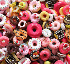 20 pcs mixed Wholesale Lot Doughnut Cute Kawaii Flatback Resin Cabochons