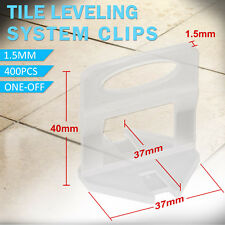 400pcs Tile Leveling System Clips Wall Floor Tiling Spacer Tool 1.5mm