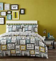 Catherine Lansfield Dream Big Quilt Duvet Cover Bedding Bed Set Cotton Rich New