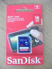 SanDisk 16 GB SDHC Card.