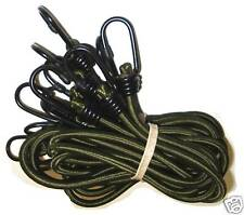 "5 PACK 30"" ELASTIC BUNGEE CORDS heavy duty rope Shelter survival cord Army Olive"