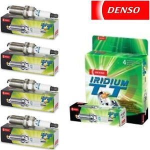4 Pack Denso Iridium TT Spark Plugs for FORD FESTIVA 1988-1993 L4-1.3L