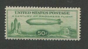 1933 United States Zeppelin Air Mail Stamp #C18 Mint Never Hinged F/VF OG