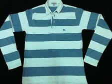 BURBERRY Classic Striped Long Sleeve Rugby Polo Shirt S Great Britain Original