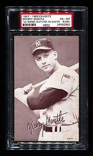 1947-66 EXHIBITS MICKEY MANTLE NAME IN WHITE YANKEES HOF SCRIBBLE VAR PSA 6 (MK)