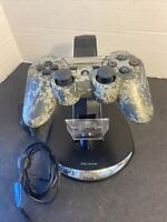 PS3 Camo Wireless Controller CECHZC2U & Pelican Charging Station PL-6325
