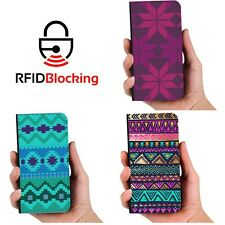 Aztec Luxury Flip Cover Wallet Card PU Leather Phone Case Stand Samsung Galaxy