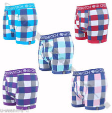Crosshatch Checked Underwear for Men