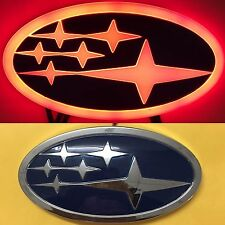4D LED Car Tail Logo Auto Badge Light Red Light for Subaru Forester Legacy XV