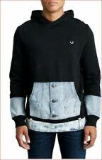 new TRUE RELIGION men sweater jacket hoodie pullover black 100870 sz XL $199