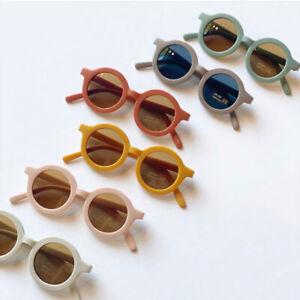 2021 Baby Girl Boy Sunglasses Shades Round Coloured Fun Fashion Toddler Child