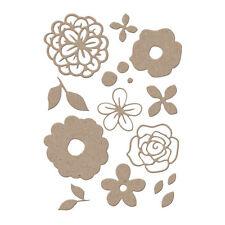 FLOWER SET 17 Dies Creative Steel Dies & Magnetic Storage LITTLE B 100394 NEW