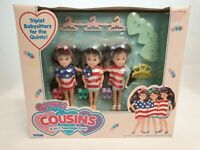 Tyco Quints Cousins Triplets Dolls US-Flag Outfit Puppen NrfB Mint in sealed Box