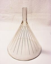 Antique Heavy Clear Glass Ribbed Funnel | $29 |