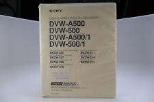 Sony Digital Videocassette Recorder DVW-A500/500/A500/1/500/1 Maintenance Manual