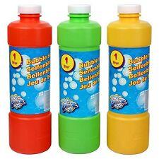 3 Liquide bulles Bouteille De Recharge 1 litre Eau savonneuse à bulles Recharge