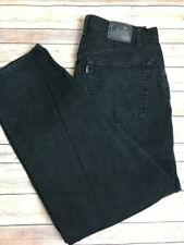 Silver Tab Levi's Men's Black Denim Baggy Style Jeans Size 33/32