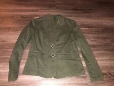 High Sierra Women's Olive Army Green Military Style Blazer Jacket Size Large