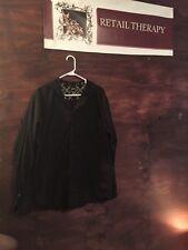 Etnies Button Down Light Weight Hoodie Jacket Black XL