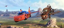 79x35inch Panoramic wallpaper for kids bedroom Disney flying cars blue wall art